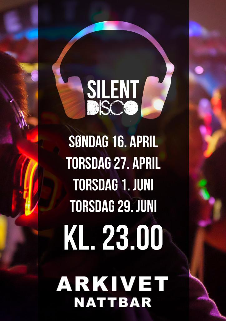Silent disco fellesplakat vår 2017